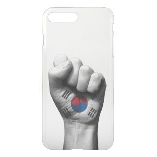 Raised Clenched Fist with South Korean Flag iPhone 7 Plus Case