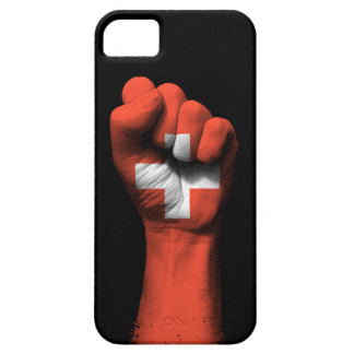 Raised Clenched Fist with Swiss Flag iPhone SE/5/5s Case
