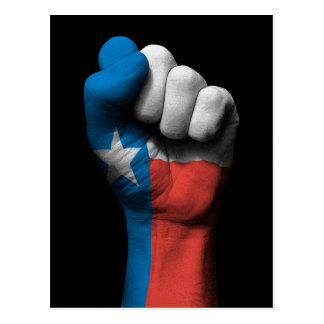 Raised Clenched Fist with Texas Flag Postcard