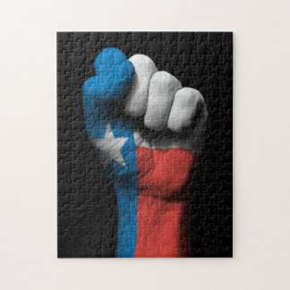Raised Clenched Fist with Texas Flag Puzzle