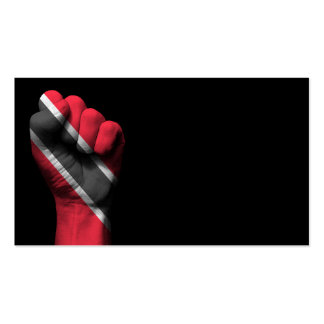 Raised Clenched Fist with Trinidadian Flag Business Card