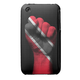 Raised Clenched Fist with Trinidadian Flag iPhone 3 Cover