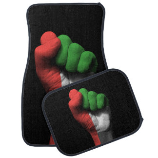Raised Clenched Fist with UAE Flag Car Mat