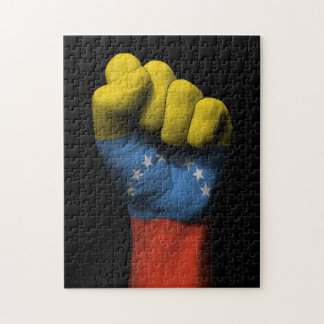 Raised Clenched Fist with Venezuelan Flag Puzzles