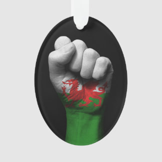 Raised Clenched Fist with Welsh Flag