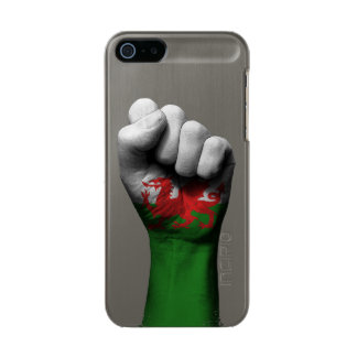 Raised Clenched Fist with Welsh Flag Metallic Phone Case For iPhone SE/5/5s