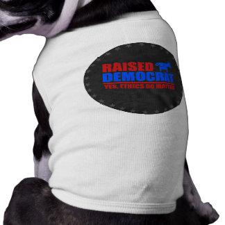 Raised Democrat. Yes ethics do matter Doggie Tee Shirt