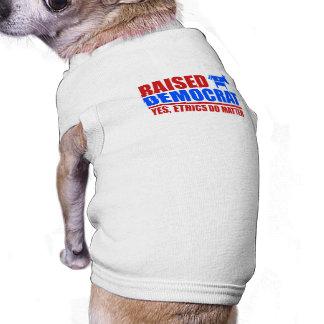 Raised Democrat. Yes ethics do matter Pet Shirt