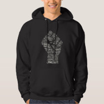 Raised Fist Black Hoodie