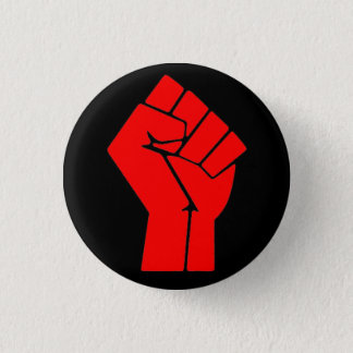Raised Fist Button