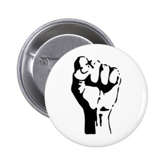 Raised Fist Pinback Buttons