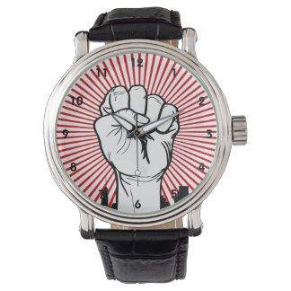 Raised Fist - Clenched Fist - Solidarty - Power Wristwatches