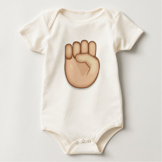 Raised Fist Emoji Baby Bodysuit