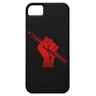 Raised Fist Holding Pencil iPhone SE/5/5s Case