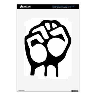 Raised Fist iPad 3 Skins
