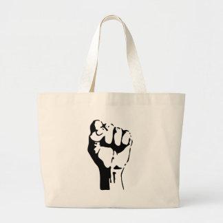 Raised Fist Large Tote Bag