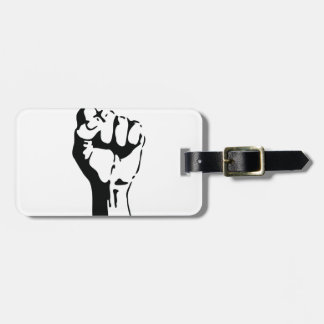 raised fist tags for bags