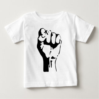 Raised Fist of Defiance/Resistance Baby T-Shirt