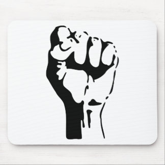 Raised Fist of Defiance/Resistance Mouse Pad