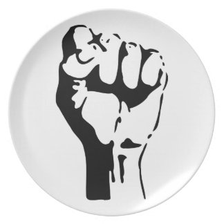 Raised Fist of Defiance/Resistance Dinner Plate