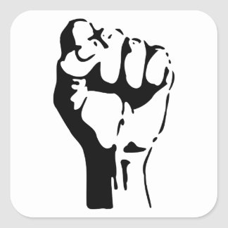 Raised Fist of Defiance/Resistance Square Sticker
