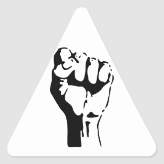 Raised Fist of Defiance/Resistance Triangle Stickers