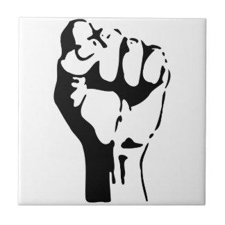Raised Fist of Defiance/Resistance Ceramic Tiles