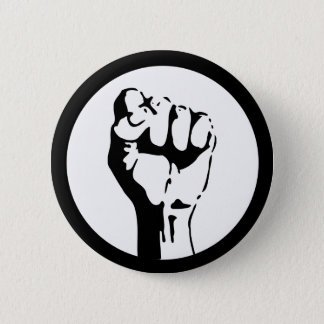 Raised Fist Pinback Button