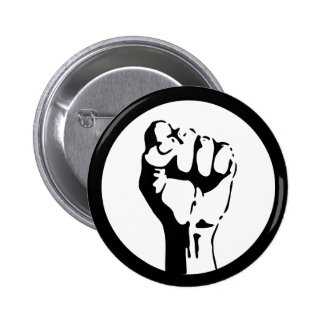Raised Fist Pinback Button