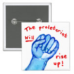 Raised fist protest justice ows occupy wall street 2 inch square button