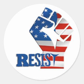 Raised Fist Resist Symbol Decal Classic Round Sticker