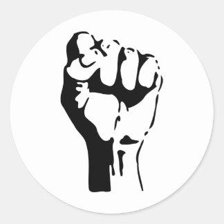 Raised Fist Round Sticker
