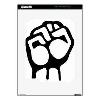 Raised Fist Skins For iPad 2