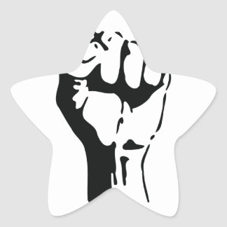raised fist sticker