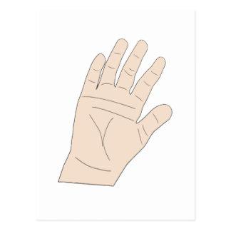 Raised hand postcard