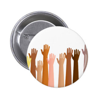 Raised Hands Pinback Buttons