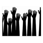 Raised Hands Post Cards