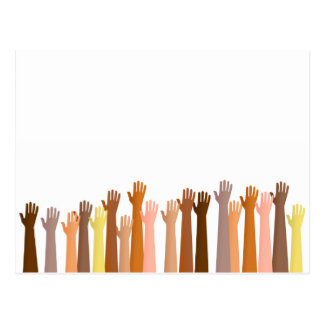 Raised Hands Postcard