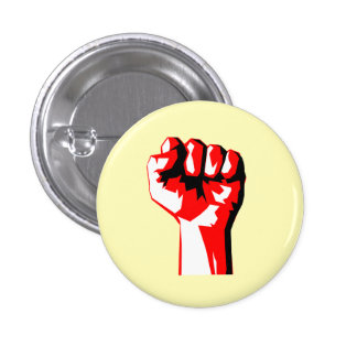 Raised Red Fist Button