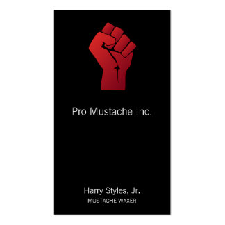 Raised Red Gradient Fist Business Card