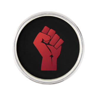 Raised Red Gradient Fist Lapel Pin