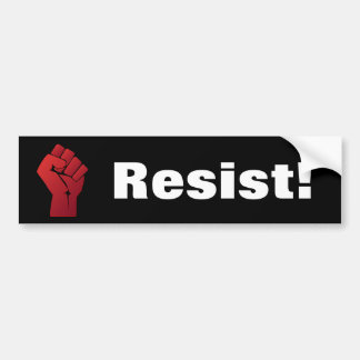Raised Red Gradient Fist Resist! Bumper Sticker