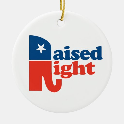 Raised Right Christmas Ornaments