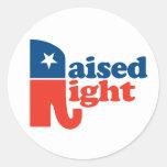 Raised Right - Pro Republican Classic Round Sticker