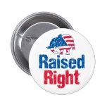 Raised Right - Republican 2 Inch Round Button