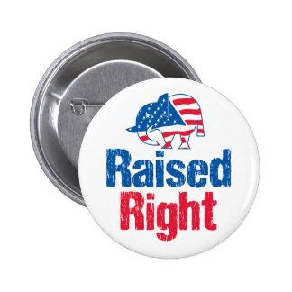 Raised Right - Republican Button