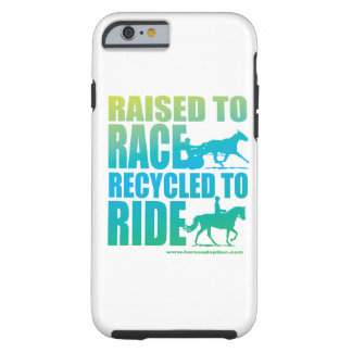 Raised to Race Recycled to Ride iPhone 6 case
