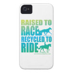 Raised to Race Recycled to Ride iPhone Case iPhone 4 Case