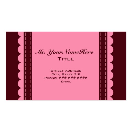 Raisin and Pink Business Card