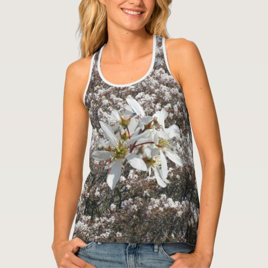 Raisin Blossoms All over Printed Tank Top